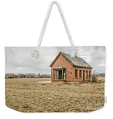 Weekender Tote Bag featuring the photograph Brick Home In November 2015 by Sue Smith