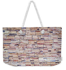Weekender Tote Bag featuring the photograph Brick Tiled Wall by John Williams