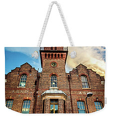 Weekender Tote Bag featuring the photograph Brick Tower by Perry Webster