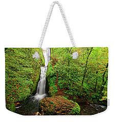 Weekender Tote Bag featuring the photograph Bridal Veil Falls by Jonathan Davison