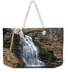Weekender Tote Bag featuring the photograph Bridal Veil Falls by Linda Sannuti