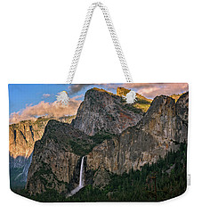 Weekender Tote Bag featuring the photograph Bridalveil Falls From Tunnel View by John Hight