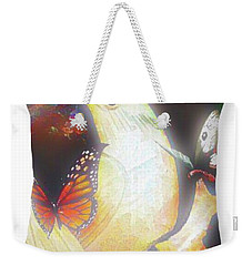 Bride And Butterflies Throw Pillow Weekender Tote Bag by Gayle Price Thomas