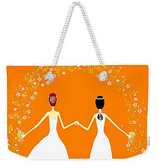 Weekender Tote Bag featuring the digital art Brides by Barbara Moignard