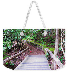 Weekender Tote Bag featuring the photograph Bridge Across The Creek by Cathy Harper