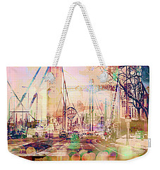 Weekender Tote Bag featuring the photograph Bridge And Grain Belt Beer Sign by Susan Stone