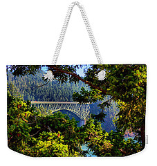 Bridge At Deception Pass Weekender Tote Bag by Michelle Joseph-Long