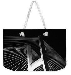 Bridge At Night Black And White Weekender Tote Bag