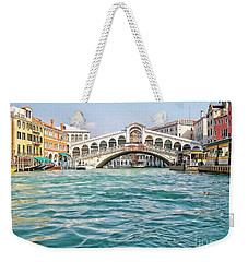 Weekender Tote Bag featuring the photograph Bridge In Venice by Roberta Byram