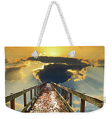 Bridge Into Sunset Weekender Tote Bag