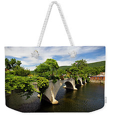 Weekender Tote Bag featuring the photograph Bridge Of Flowers Shelburne Falls, Ma by Betty Denise