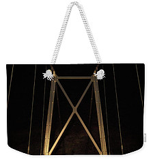 Weekender Tote Bag featuring the photograph Bridge Of Stars by Cat Connor