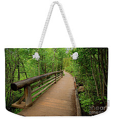 Bridge On Alberta Falls Trail Weekender Tote Bag