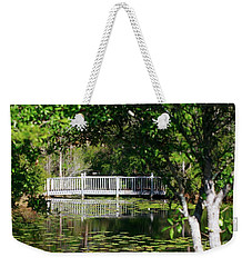 Bridge On Lilly Pond Weekender Tote Bag