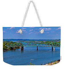 Bridge On The Ohio River Weekender Tote Bag by Jonny D