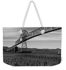 Weekender Tote Bag featuring the photograph Bridge Over Columbia by Jeff Kolker