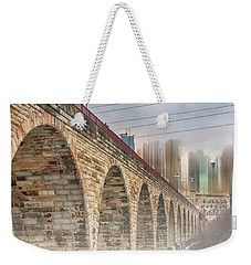 Bridge Over Frozen Water Weekender Tote Bag