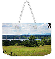 Weekender Tote Bag featuring the photograph Bridge Over The Hudson by Jeff Severson