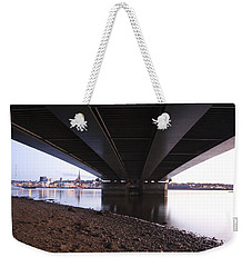 Weekender Tote Bag featuring the photograph Bridge Over Wexford Harbour by Ian Middleton