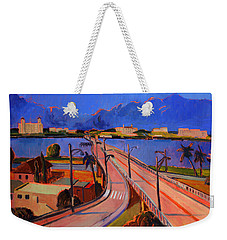 Bridge To Palm Beach Weekender Tote Bag