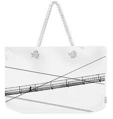 Weekender Tote Bag featuring the photograph Bridge Walker by Joe Bonita