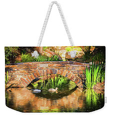 Bridge With Ducks Weekender Tote Bag by Wade Brooks