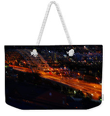 Weekender Tote Bag featuring the photograph Bridges by Cathy Donohoue