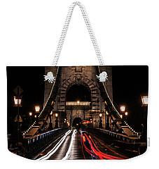 Bridges Of Budapest - Chain Bridge Weekender Tote Bag by Jaroslaw Blaminsky