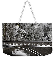 Bridges Of Multnomah Falls Weekender Tote Bag by Wes and Dotty Weber