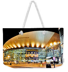 Weekender Tote Bag featuring the photograph Bridgestone Arena by Lisa Wooten