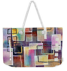 Weekender Tote Bag featuring the painting Bridging Gaps by Hailey E Herrera