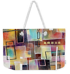 Weekender Tote Bag featuring the painting Bridging Gaps 2 by Hailey E Herrera
