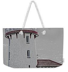 Brigantine Lighthouse Weekender Tote Bag by Trish Tritz