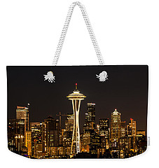 Bright At Night - Space Needle Weekender Tote Bag