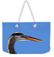 Weekender Tote Bag featuring the photograph Bright Beak Blue .png by Al Powell Photography USA