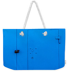 Bright Blue Locked Door And Padlock Weekender Tote Bag