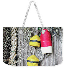 Weekender Tote Bag featuring the photograph Bright Buoys I by Marianne Campolongo