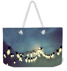 Weekender Tote Bag featuring the photograph Bright Lights by Rebecca Cozart