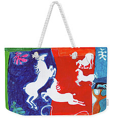 Bright Lippizans Weekender Tote Bag