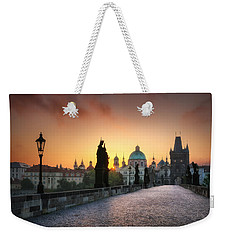 Bright Morning In Prague, Czech Republic Weekender Tote Bag