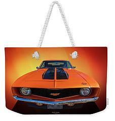 Bright Orange Weekender Tote Bag