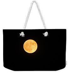 Bright Orange Moon Weekender Tote Bag
