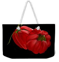 Bright Red Peppers Weekender Tote Bag