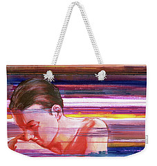 Weekender Tote Bag featuring the painting Bright Silence by Rene Capone
