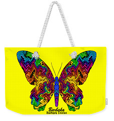 Weekender Tote Bag featuring the digital art Bright Transformation by Barbara Tristan