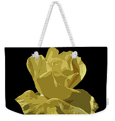 Weekender Tote Bag featuring the photograph Bright Yellow Beauty by Laurel Powell