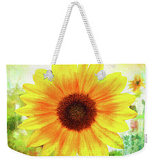 Bright Yellow Sunflower - Painted Summer Sunshine Weekender Tote Bag