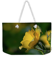 Bright Yellow Walking On Sunshine Rose Weekender Tote Bag