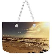 Weekender Tote Bag featuring the photograph Brighton Beach Pier by Douglas Barnard