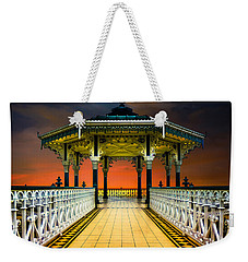 Weekender Tote Bag featuring the photograph Brighton's Promenade Bandstand by Chris Lord